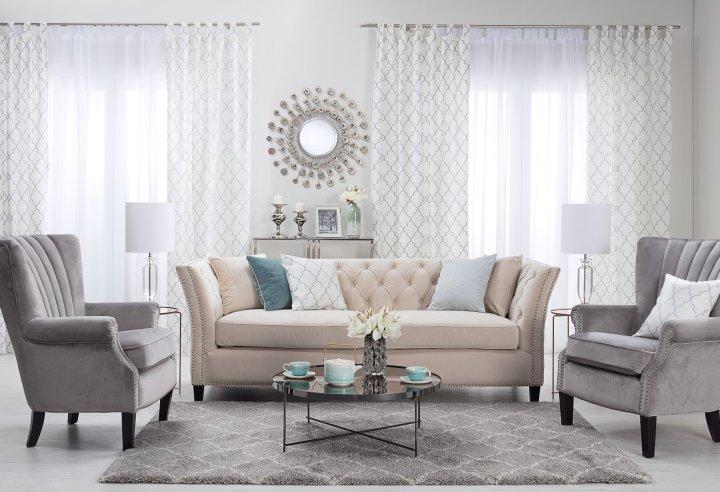 Velvet & Geometrical Living Room
