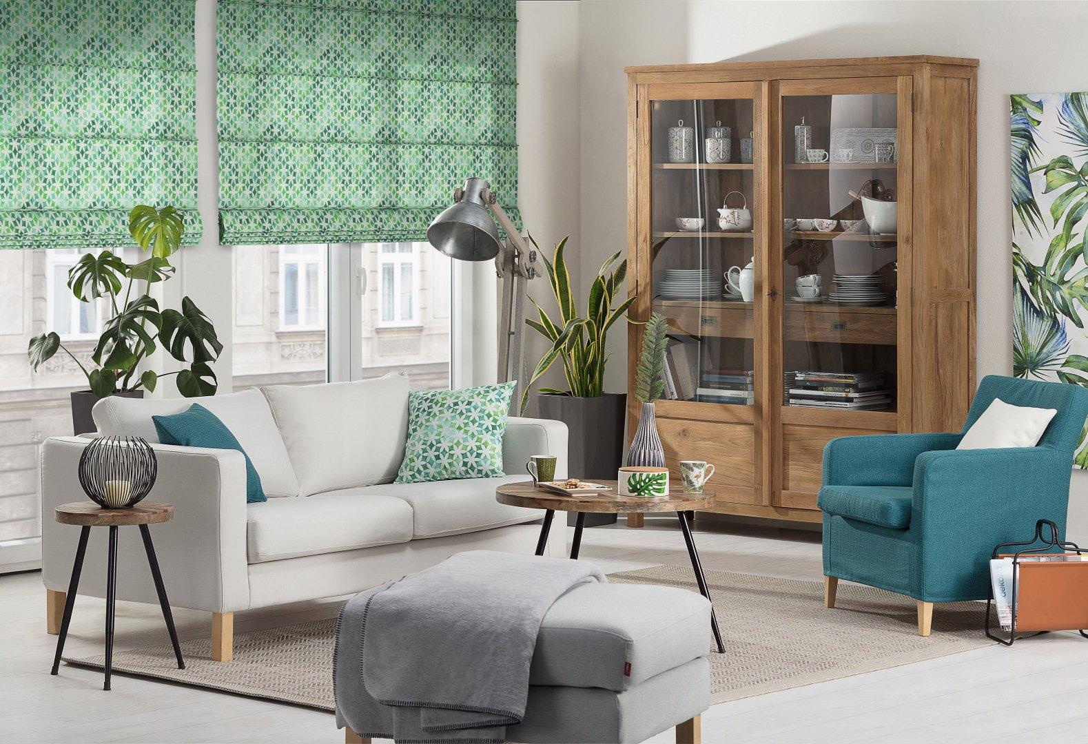 Zielona oaza w salonie