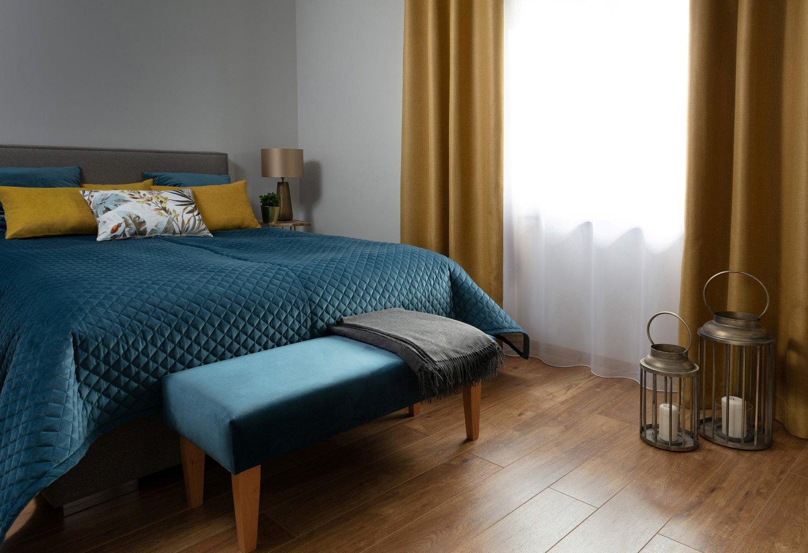 Bedroom Indigo & Mustard Velvet