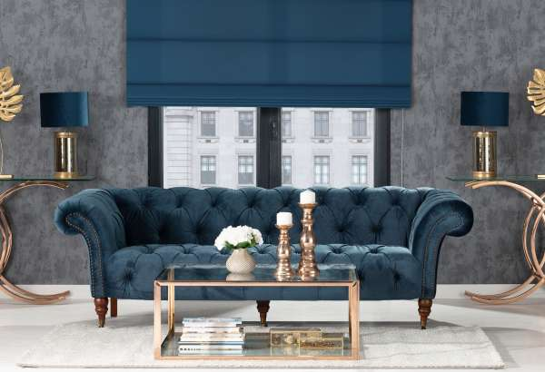 Indigo Glamour Living Room