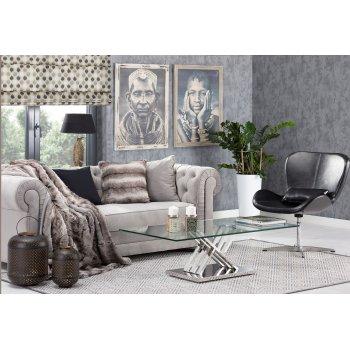 Obývačka v prírodných farbách