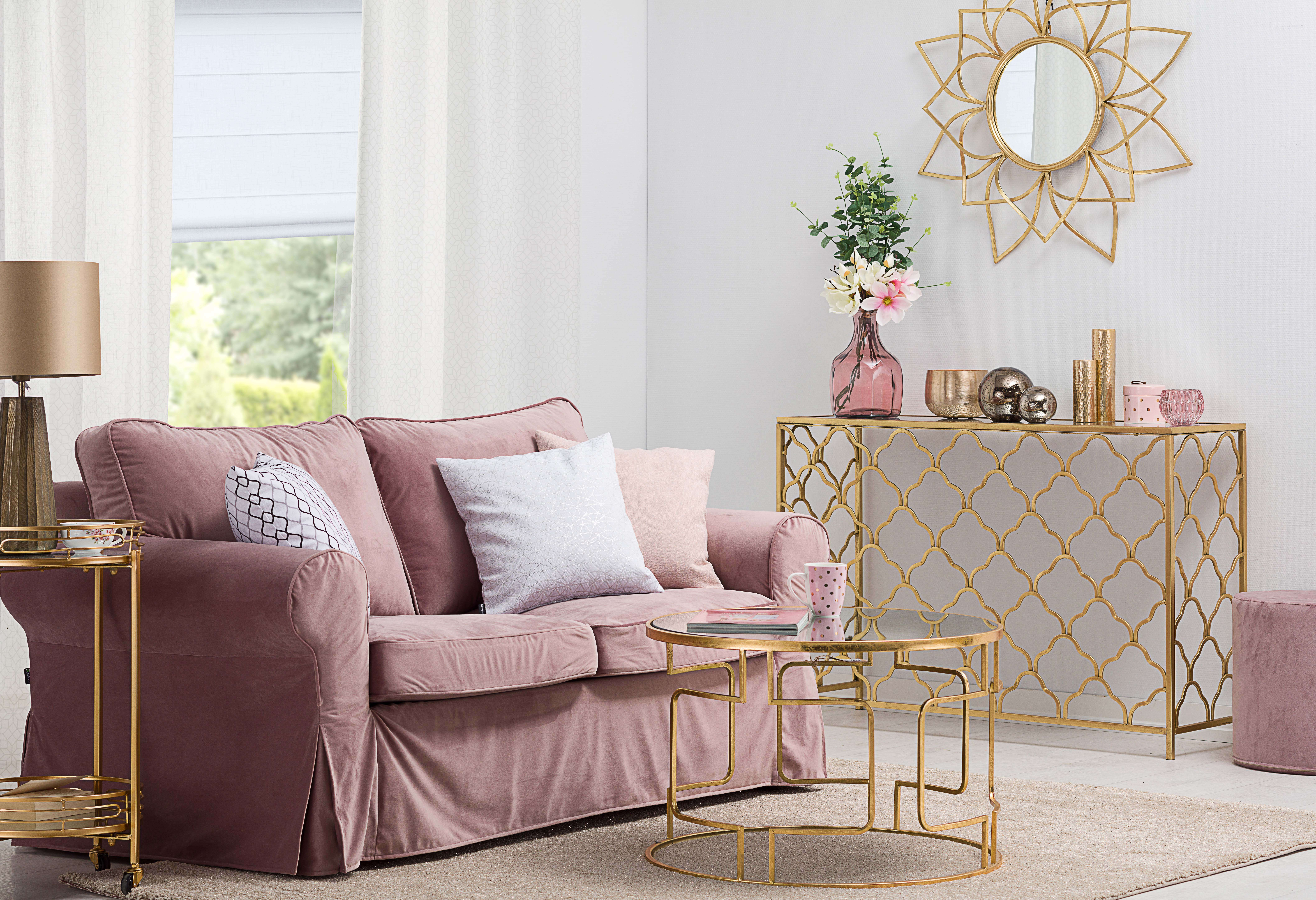 Blush Sofa Living Room