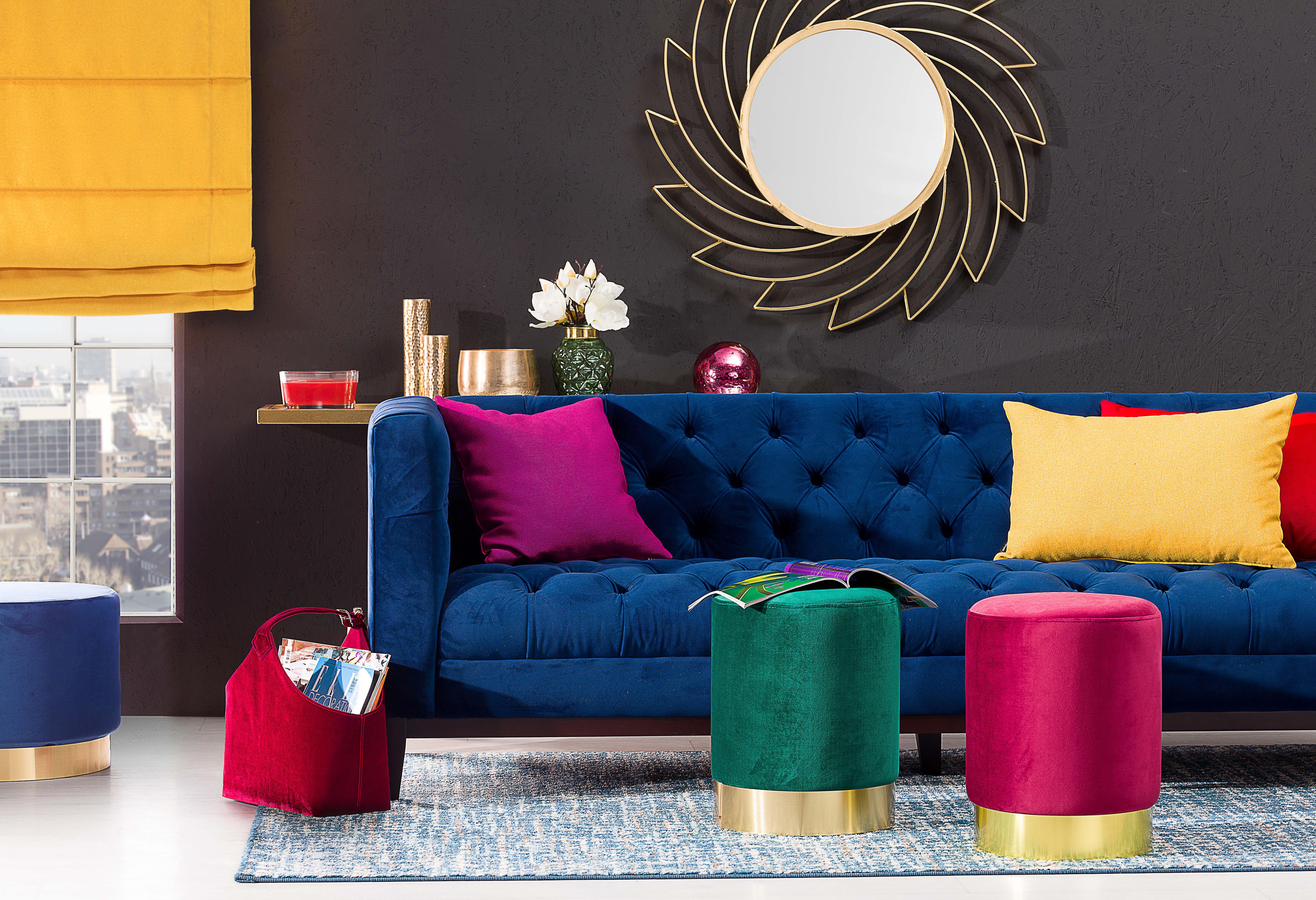 Pop of Colour Living Room