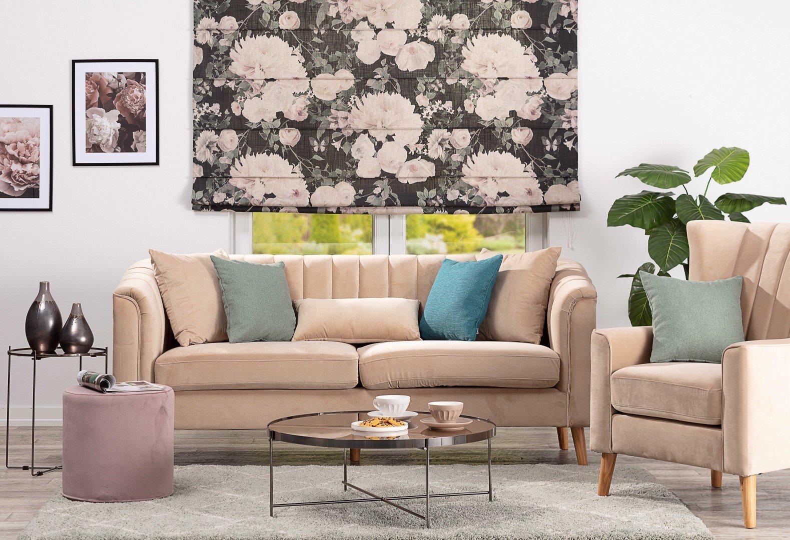 Living room Beige, Sage Green & Blue