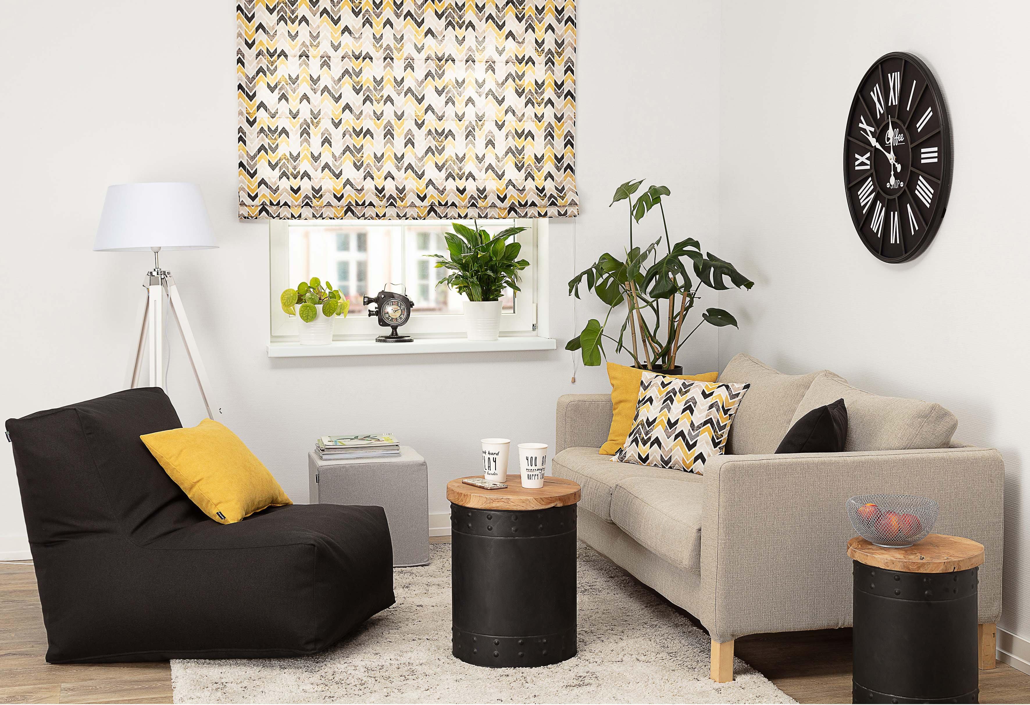 Studio apartment - odważne kolory i wzory