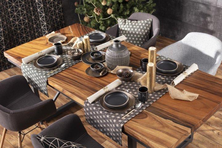 Ünnepi asztal  black&gold