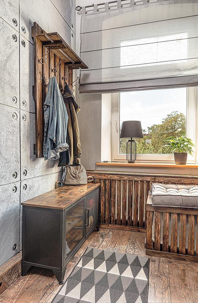 Przedpokój w loftowym stylu
