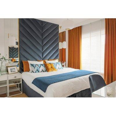Schlafzimmer in Herbstfarben